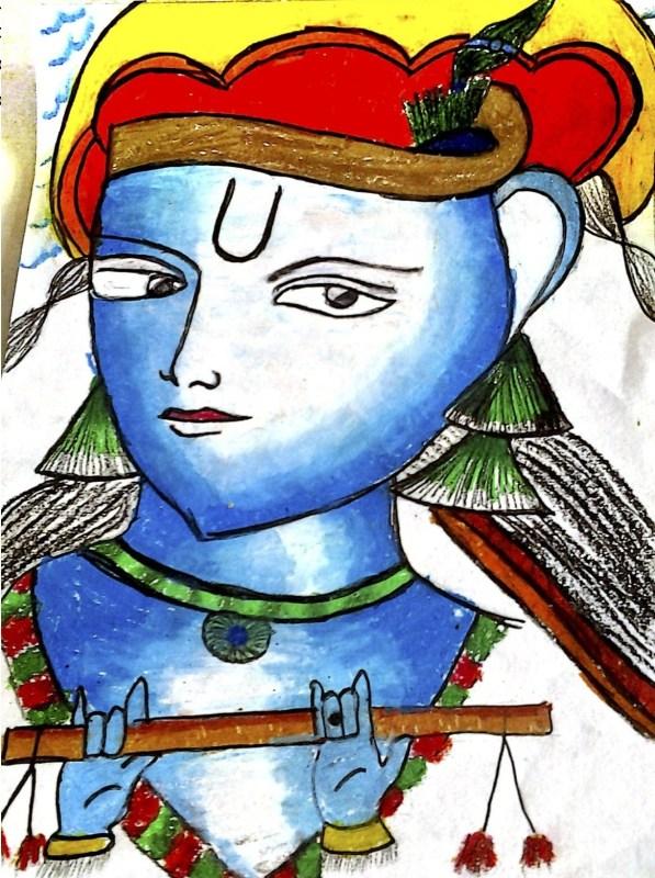Lord Krishna, By Ishan Rao, Class 4B, AVM Juhu
