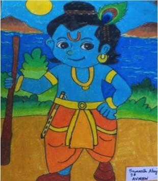 Lord Krishna, SamarthAhuja-3B-AVMBW