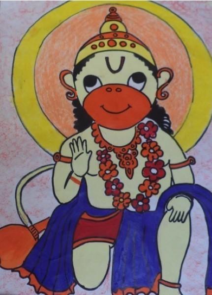 Lord Hanuman, AryanRaja, Class 3C, AVMBW