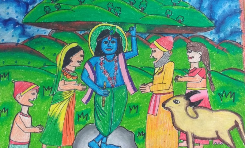 Lord Krishna, Indian Mythology, By Prisha Mehta, Class 4B, AVMBE